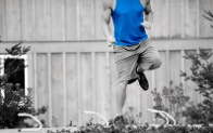 man doing hurdle agility drills