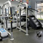 squat rack gym photo